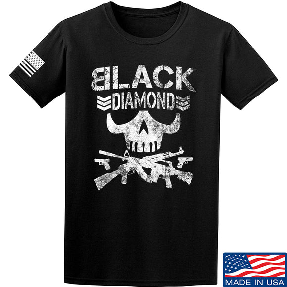 Black Diamond Guns and Gear Black Diamond Skull T-Shirt T-Shirts Small / Black by Ballistic Ink - Made in America USA