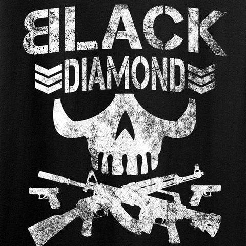Black Diamond Guns and Gear Black Diamond Skull Long Sleeve T-Shirt Long Sleeve [variant_title] by Ballistic Ink - Made in America USA