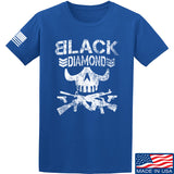 Black Diamond Guns and Gear Black Diamond Skull T-Shirt T-Shirts Small / Blue by Ballistic Ink - Made in America USA
