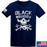 Black Diamond Guns and Gear Black Diamond Skull T-Shirt T-Shirts Small / Navy by Ballistic Ink - Made in America USA