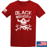 Black Diamond Guns and Gear Black Diamond Skull T-Shirt T-Shirts Small / Red by Ballistic Ink - Made in America USA