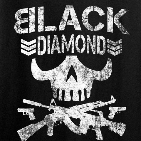 Black Diamond Guns and Gear Ladies Black Diamond Skull T-Shirt T-Shirts [variant_title] by Ballistic Ink - Made in America USA