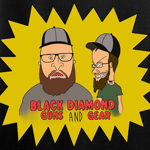 Black Diamond Guns and Gear Josh and Josh Black Diamond Guns and Gear Logo T-Shirt T-Shirts [variant_title] by Ballistic Ink - Made in America USA