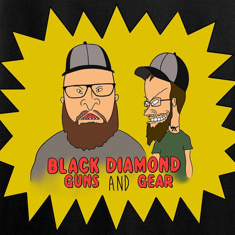 Black Diamond Guns and Gear Ladies Josh and Josh Black Diamond Guns and Gear Logo T-Shirt T-Shirts [variant_title] by Ballistic Ink - Made in America USA