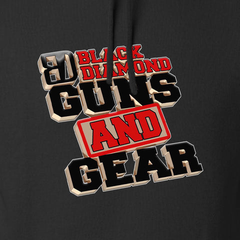 Black Diamond Guns and Gear Black Diamond Guns and Gear Chest Logo Hoodie Hoodies [variant_title] by Ballistic Ink - Made in America USA
