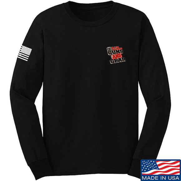 Black Diamond Guns and Gear Black Diamond Guns and Gear Chest Logo Long Sleeve T-Shirt Long Sleeve Small / Black by Ballistic Ink - Made in America USA