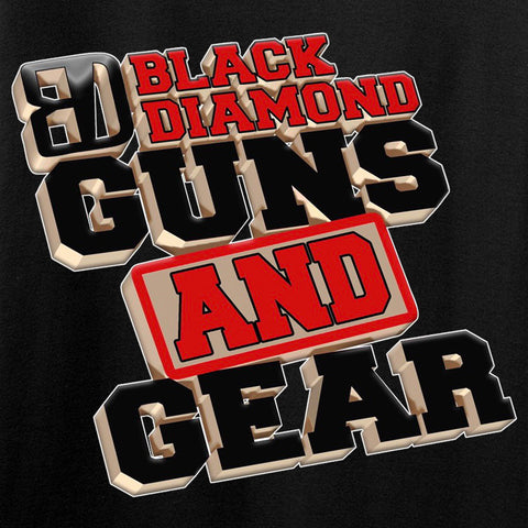 Black Diamond Guns and Gear Black Diamond Guns and Gear Chest Logo Long Sleeve T-Shirt Long Sleeve [variant_title] by Ballistic Ink - Made in America USA