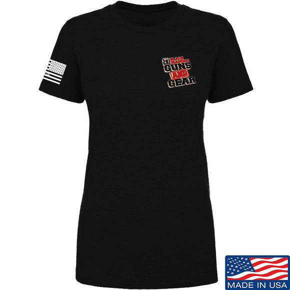 Black Diamond Guns and Gear Ladies Black Diamond Guns and Gear Full Chest T-Shirt T-Shirts SMALL / Black by Ballistic Ink - Made in America USA