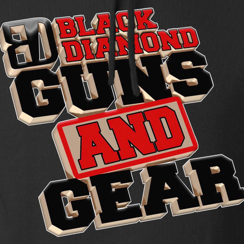 Black Diamond Guns and Gear Black Diamond Guns and Gear Full Logo Hoodie Hoodies [variant_title] by Ballistic Ink - Made in America USA
