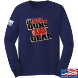 Black Diamond Guns and Gear Black Diamond Guns and Gear Full Logo Long Sleeve T-Shirt Long Sleeve Small / Navy by Ballistic Ink - Made in America USA