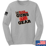 Black Diamond Guns and Gear Black Diamond Guns and Gear Full Logo Long Sleeve T-Shirt Long Sleeve Small / Light Grey by Ballistic Ink - Made in America USA