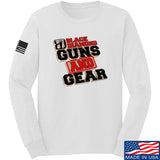 Black Diamond Guns and Gear Black Diamond Guns and Gear Full Logo Long Sleeve T-Shirt Long Sleeve Small / White by Ballistic Ink - Made in America USA