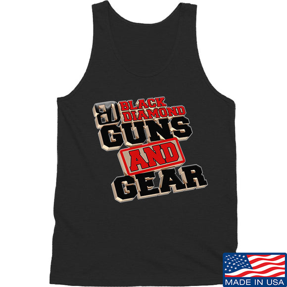 Black Diamond Guns and Gear Black Diamond Guns and Gear Full Logo Tank Tanks SMALL / Black by Ballistic Ink - Made in America USA