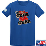Black Diamond Guns and Gear Black Diamond Guns and Gear Full Logo T-Shirt T-Shirts Small / Blue by Ballistic Ink - Made in America USA