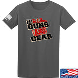 Black Diamond Guns and Gear Black Diamond Guns and Gear Full Logo T-Shirt T-Shirts Small / Charcoal by Ballistic Ink - Made in America USA