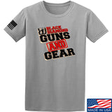 Black Diamond Guns and Gear Black Diamond Guns and Gear Full Logo T-Shirt T-Shirts Small / Light Grey by Ballistic Ink - Made in America USA