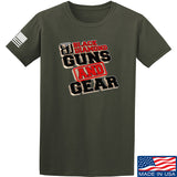 Black Diamond Guns and Gear Black Diamond Guns and Gear Full Logo T-Shirt T-Shirts Small / Military Green by Ballistic Ink - Made in America USA