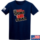 Black Diamond Guns and Gear Black Diamond Guns and Gear Full Logo T-Shirt T-Shirts Small / Navy by Ballistic Ink - Made in America USA