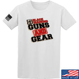 Black Diamond Guns and Gear Black Diamond Guns and Gear Full Logo T-Shirt T-Shirts Small / White by Ballistic Ink - Made in America USA