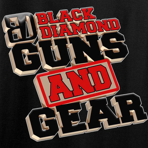 Black Diamond Guns and Gear Ladies Black Diamond Guns and Gear Full Logo T-Shirt T-Shirts [variant_title] by Ballistic Ink - Made in America USA