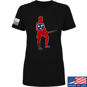 Black Diamond Guns and Gear Ladies Minutemen of Tennessee T-Shirt T-Shirts SMALL / Black by Ballistic Ink - Made in America USA