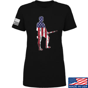Black Diamond Guns and Gear Ladies Minutemen T-Shirt T-Shirts SMALL / Black by Ballistic Ink - Made in America USA