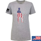Black Diamond Guns and Gear Ladies Minutemen T-Shirt T-Shirts SMALL / Light Grey by Ballistic Ink - Made in America USA