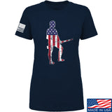 Black Diamond Guns and Gear Ladies Minutemen T-Shirt T-Shirts SMALL / Navy by Ballistic Ink - Made in America USA