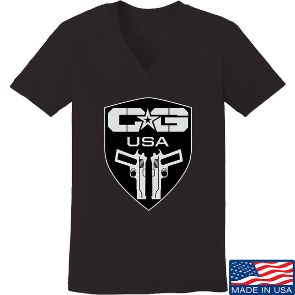 Ladies Cabot Guns Full Logo V-Neck