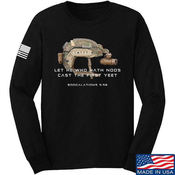 Let He Who Hath Nods Cast The First Yeet Long Sleeve T-Shirt