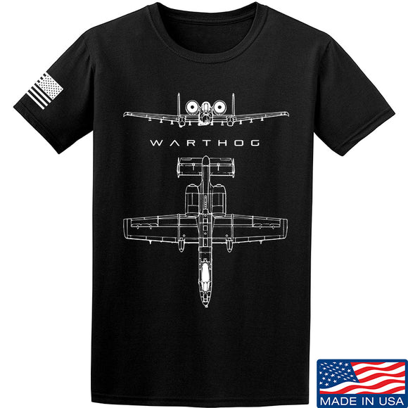 Fitty% Aviation - A10 - Warthog T-Shirt T-Shirts Small / Black by Ballistic Ink - Made in America USA