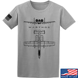 Fitty% Aviation - A10 - Warthog T-Shirt T-Shirts Small / Light Grey by Ballistic Ink - Made in America USA