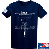 Fitty% Aviation - A10 - Warthog T-Shirt T-Shirts Small / Navy by Ballistic Ink - Made in America USA
