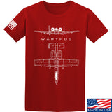 Fitty% Aviation - A10 - Warthog T-Shirt T-Shirts Small / Red by Ballistic Ink - Made in America USA