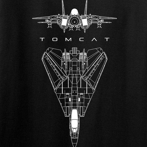 Fitty% Aviation - F14 - Tomcat T-Shirt T-Shirts [variant_title] by Ballistic Ink - Made in America USA