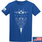 Fitty% Aviation - F14 - Tomcat T-Shirt T-Shirts Small / Blue by Ballistic Ink - Made in America USA