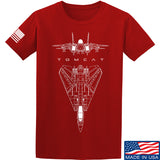 Fitty% Aviation - F14 - Tomcat T-Shirt T-Shirts Small / Red by Ballistic Ink - Made in America USA