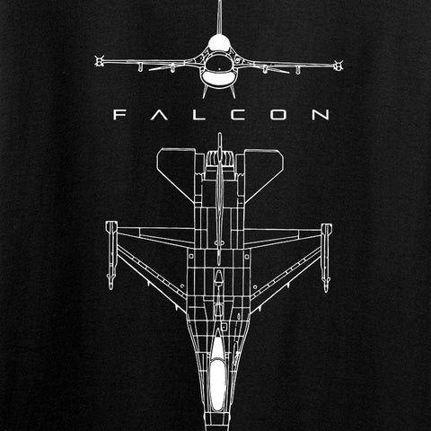Fitty% Aviation - F16 - Falcon T-Shirt T-Shirts [variant_title] by Ballistic Ink - Made in America USA