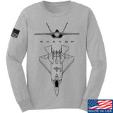 Aviation - F22 - Raptor Long Sleeve T-Shirt