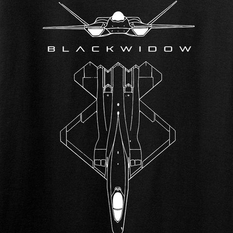 Aviation - YF23 - BlackWidow T-Shirt
