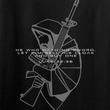 Jesus Christ - AR15 - Cloak Sword Long Sleeve T-Shirt