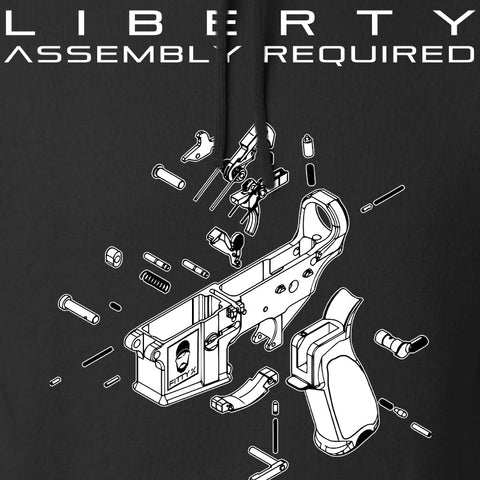 Fitty% Liberty: Assembly Required Hoodie Hoodies [variant_title] by Ballistic Ink - Made in America USA