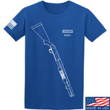 Fitty% Shotgun - 590 T-Shirt T-Shirts Small / Blue by Ballistic Ink - Made in America USA