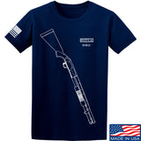 Fitty% Shotgun - 590 T-Shirt T-Shirts Small / Navy by Ballistic Ink - Made in America USA