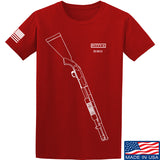 Fitty% Shotgun - 590 T-Shirt T-Shirts Small / Red by Ballistic Ink - Made in America USA