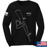 Fitty% Shotgun - AA12 Long Sleeve T-Shirt Long Sleeve Small / Black by Ballistic Ink - Made in America USA