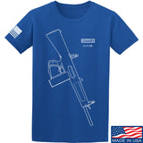Fitty% Shotgun - AA12 T-Shirt T-Shirts Small / Blue by Ballistic Ink - Made in America USA