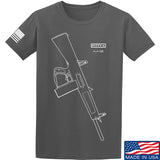 Fitty% Shotgun - AA12 T-Shirt T-Shirts Small / Charcoal by Ballistic Ink - Made in America USA