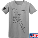 Fitty% Shotgun - AA12 T-Shirt T-Shirts Small / Light Grey by Ballistic Ink - Made in America USA