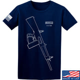 Fitty% Shotgun - AA12 T-Shirt T-Shirts Small / Navy by Ballistic Ink - Made in America USA